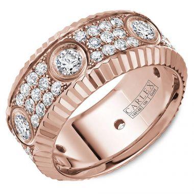 Carlex G3 18k Rose Gold Women's Diamond Wedding Band