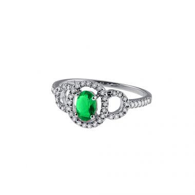 Park Designs Emerald and Diamond Classic Ring