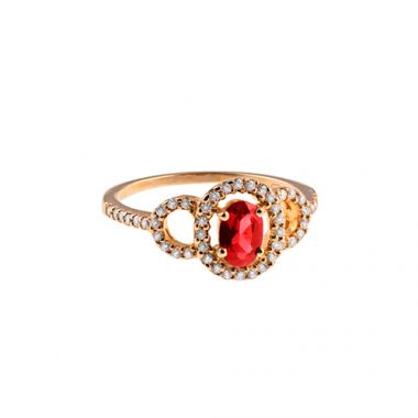 Park Designs Ruby and Diamond Classic Ring