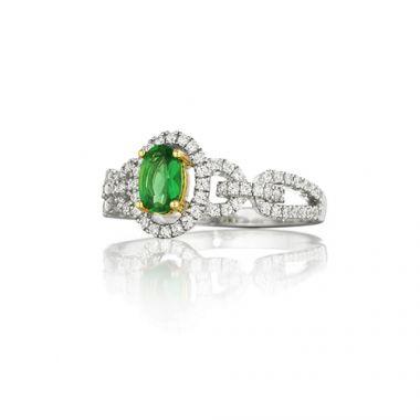 Park Designs Emerald and Diamond Ring