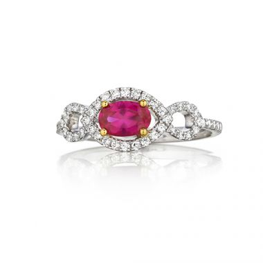 Park Designs Ruby and Diamond Infinity Ring