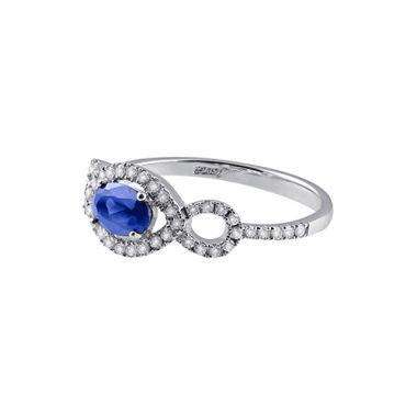 Park Designs Sapphire and Diamond Infinity Ring