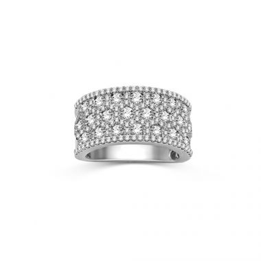 Park Jewelers Fashion Multi Row Diamond Band Style