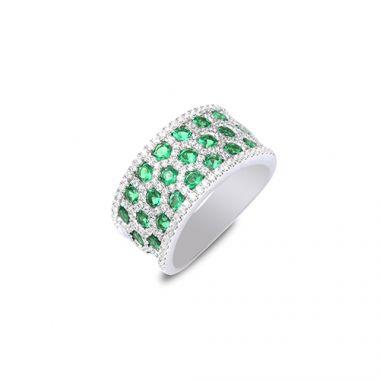 Park Designs Emerald and Diamond Multi Row Band Style