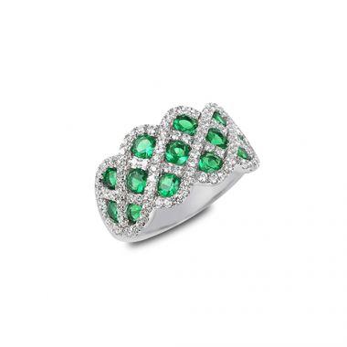 Park Designs Emerald and Diamond Interweaving Ring