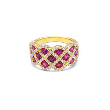 Park Designs Ruby and Diamond Interweaving Ring