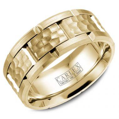 Carlex G1 18k Yellow Gold Men's Wedding Band