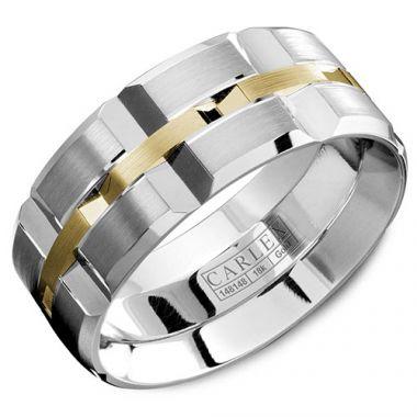 Carlex G1 18k White Gold Men's Wedding Band