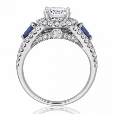 Park Designs 14k White Gold Gemstone Diamond Engagement Ring