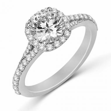 Park Designs 14k Rose Gold Halo Diamond Engagement Ring