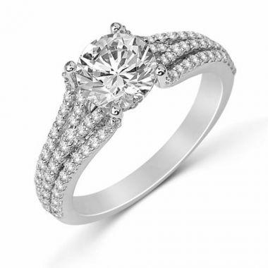 Park Designs 14k White Gold Diamond Engagement Ring
