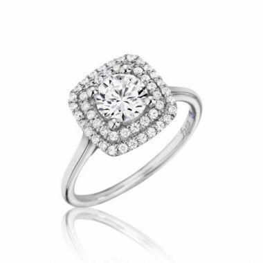 Park Designs 14k White Gold Double Halo Diamond Engagement Ring