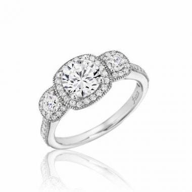 Park Designs 14k White Gold 3 Stone Diamond Engagement Ring