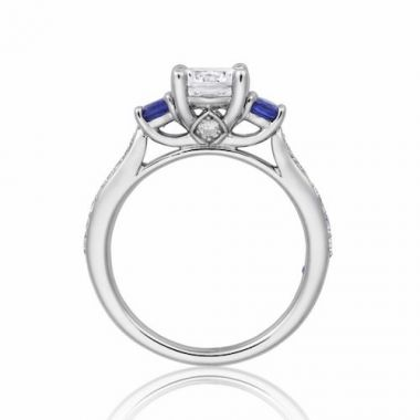 Park Designs 14k White Gold 3 Stone Gemstone Diamond Engagement Ring