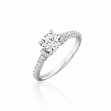 Park Designs 14k White Gold Straight Diamond Engagement Ring