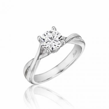 Park Designs 14k White Gold Twisted Diamond Engagement Ring
