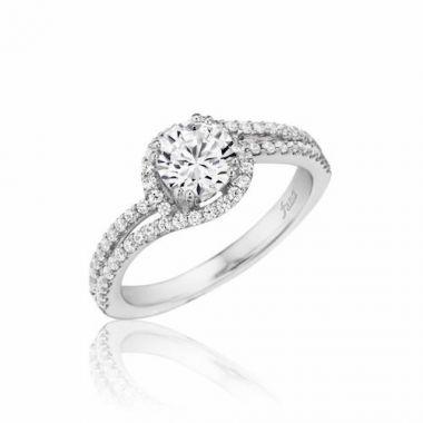 Park Designs 14k White Gold Bypass Diamond Engagement Ring