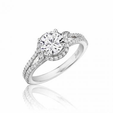 Park Designs 14k White Gold Split Shank Diamond Engagement Ring