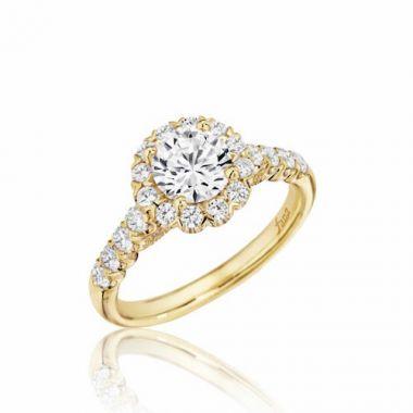 Park Designs 14k Yellow Gold Halo Diamond Engagement Ring