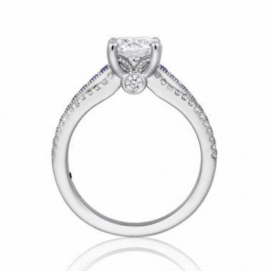 Park Designs 14k White Gold Straight Gemstone Diamond Engagement Ring
