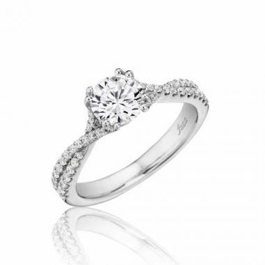 Park Designs 14k White Gold Criss Cross Diamond Engagement Ring