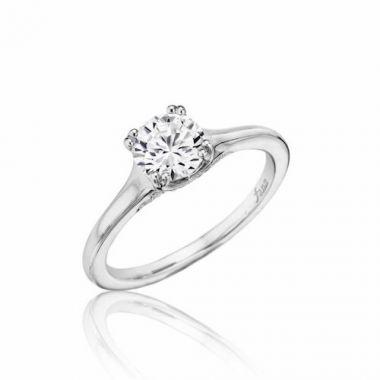 Park Designs 14k White Gold Solitaire Diamond Engagement Ring