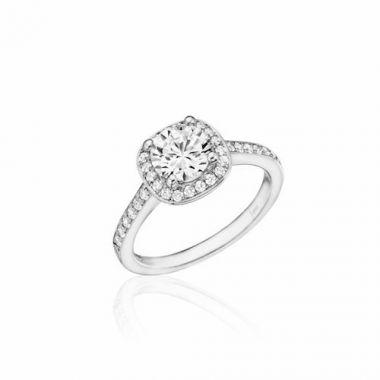 Park Designs 14k White Gold Halo Diamond Engagement Ring