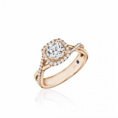 Park Designs 14k Rose Gold Criss Cross Diamond Engagement Ring