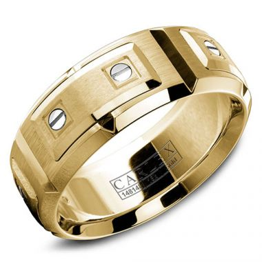 Carlex G2 18k Yellow Gold Men's Wedding Band
